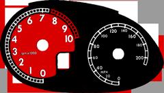 Tachoscheibe Ferrari 612