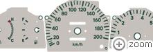Tachoscheiben/Plasmascheiben Toyota Paseo
